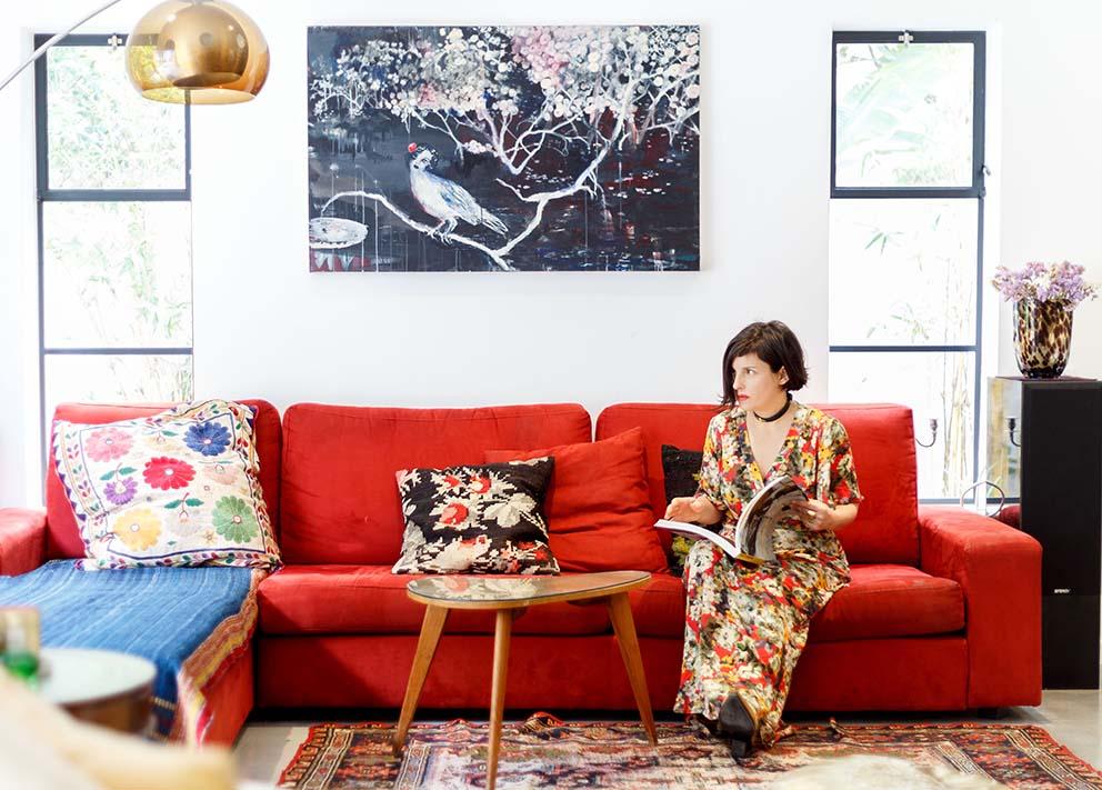 ביקור אצל לארה רוסנובסקי, מגזין pnim, צילום: אורית ארנון www.pnim.co.il